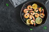 Roasted Shrimps With Lemon And Garlic poster