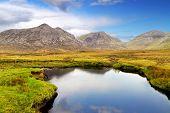 Connemara mountains and lake scenery, Ireland