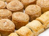 Pork pies and sausage rolls