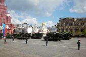 MOSCOW - MAY 9: Buk missile systems ride on Victory Day celebration in parade on Red Square, May 9,