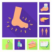 Isolated Object Of Symptom And Disease Symbol. Collection Of Symptom And Treatment Stock Symbol For  poster