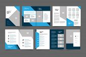 Company Profile Brochure Vector Design Template. Annual Report Vector Design Template poster