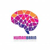Creative Idea - Business Vector Logo Template Concept Illustration. Abstract Human Brain Creative Si poster