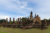 Sukhothai Historical Place Temple In Sukhothai Province, Thailand poster