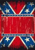 stock photo of confederate flag  - Grunge Confederate poster - JPG