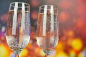 Prosecco Glass Holiday Drinks Like Themed Party And Holiday Celebration Concept With Champagne Glass poster