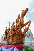 Candle Festival In Buddhist Lent Day, Ubon Ratchathani Thailand poster
