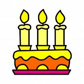 Birthday Cake Icon Isolated On White Background From Event Collection. Birthday Cake Icon Trendy And poster