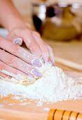 Woman Making Cake
