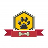 Paw Print-icon.illustration Of A Paw Print Of An Animal As An Icon On A White Background poster