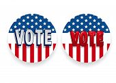 Vote 2020 In Usa, Banner Design. American Patriotic Background Election Day. Usa Debate Of President poster