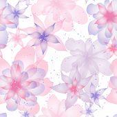 Naadloze patroon met bloemen rozen, floral illustratie.