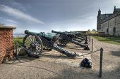 Cannons at Hamlet's Castle of Kronborg