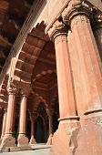 The Columns Of The Red Fort In Delhi, India
