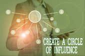 Conceptual Hand Writing Showing Create A Circle Of Influence. Business Photo Text Be An Influencer L poster