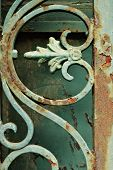 Iron Grill Ornamental Flourish Detail Background