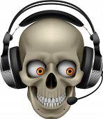 Cool Skull with headphones