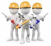 Trabajadores 3D - equipo de trabajo