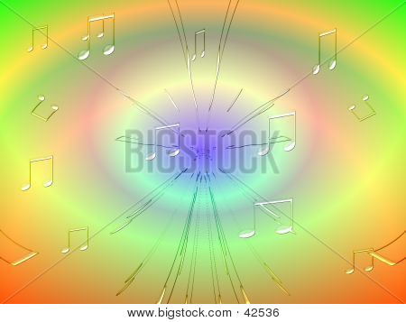 Abstract Graphic Depicting Music Sounds poster