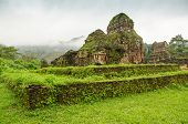 foto of champa  - My Son temple ruins - JPG
