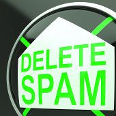 Delete Spam Shows Undesired Electronic Mail Filter
