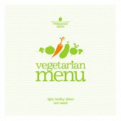 Restaurant Vegetarian Menu Card Design template.