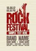 image of hell  - Rock festival design template with bass guitar and place for text - JPG