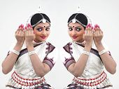Indian Classical Female Bharathanatyam Dancer