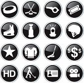 hockey game icon set