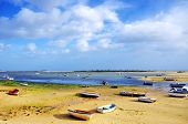 Small Boats On Ria Formosa, Algarve