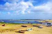 Small Boats On Ria Formosa, Algarve