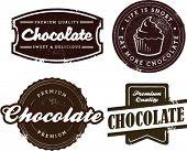 Premium Vintage Chocolate Dessert Stamps