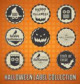Vector Set: Happy Halloween Labels