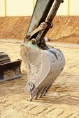 foto of backhoe  - Image of Truck Backhoe construction scoop stop work - JPG