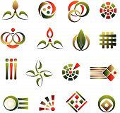 Постер, плакат: Векторный набор элементов дизайна абстрактный логотип