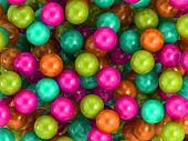 Children's game colorful plastic balls