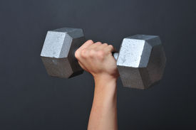 picture of weight-lifting  - Lifting weights is good for your health - JPG