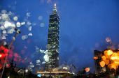 Night View Of Taipei 101 Tower