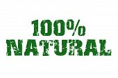 stock photo of naturist  - Green natural text - JPG