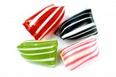 Colorful striped hard candies