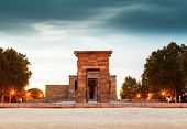 pic of isis  - The famous Temple of Debod in Madrid Spain - JPG