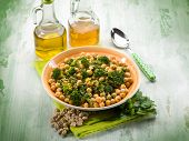 picture of chickpea  - salad with broccoli and chickpeas - JPG