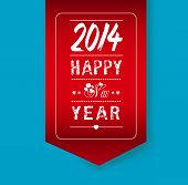 stock photo of happy new year 2013  - Happy new year 2014 - JPG
