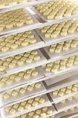 Unbaked Bread at the bakery