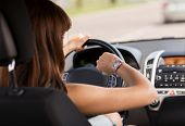 stock photo of driving  - transportation and vehicle concept  - JPG