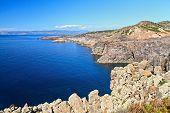 Sardinia -cliff In San Pietro Island