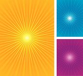 Starburst, sunburst background