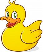 pic of baby goose  - a cute yellow rubber ducky cartoon character - JPG