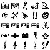 foto of accumulative  - Set of auto repair Icons - JPG