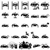 foto of chassis  - Set of auto repair Icons - JPG